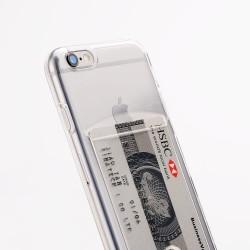 iPhone 6/6S funda con tarjetero - Transparente