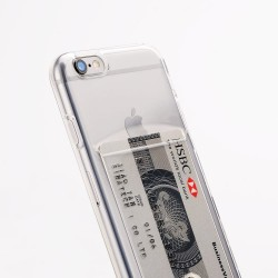 iPhone 6/6S silicone case with card slot - Transparent