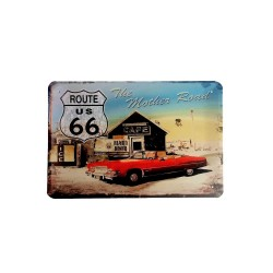 Vintage metal poster for decoration, metal sign - Route us 66