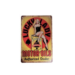 Vintage metal poster for decoration, metal sign - LUCKY LADY