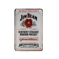 Vintage metal poster for decoration, metal sign -Jim Beam