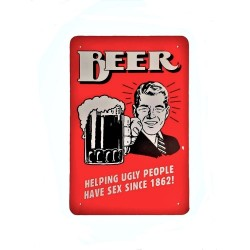 Vintage metal poster for decoration, metal sign - Beer