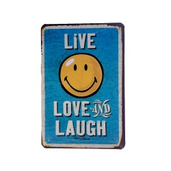 Vintage metal poster for decoration, metal sign - Live Love Laugh