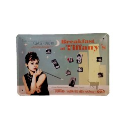 Vintage metal poster for decoration, metal sign - Breakfast at Tiffany´s