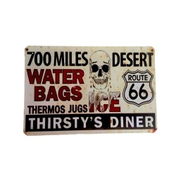 Vintage metal poster for decoration, metal sign - 700 miles
