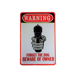 Vintage metal poster for decoration, metal sign - Warning