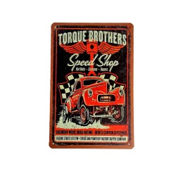 Vintage metal poster for decoration, metal sign - Torque brothers