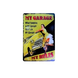 Vintage metal poster for decoration, metal sign - My garage