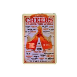Vintage metal poster for decoration, metal sign - Cheers