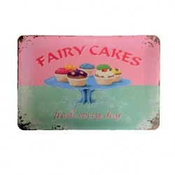 Vintage metal poster for decoration, metal sign - Fairy cakes