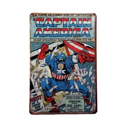 Vintage metal poster for decoration, metal sign - Captain America