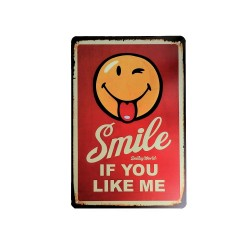 Vintage metal poster for decoration, metal sign- Smile if you like me