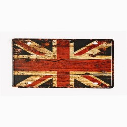 License plate, metal sheet metal poster for decoration – GB Flag