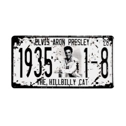 License plate, metal sheet metal poster for decoration – Elvis Presley