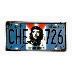 License plate, metal sheet metal poster for decoration – Che Guevara