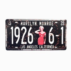 License plate, metal sheet metal poster for decoration – Marilyn Monroe