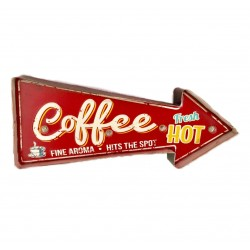 Coffee - Vintage LED Metal Light Sign