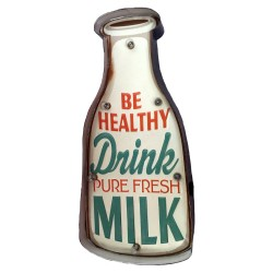 Milk - Vintage LED Metal Light Sign
